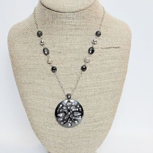 Kenneth Cole Silver Disk Pendant Necklace